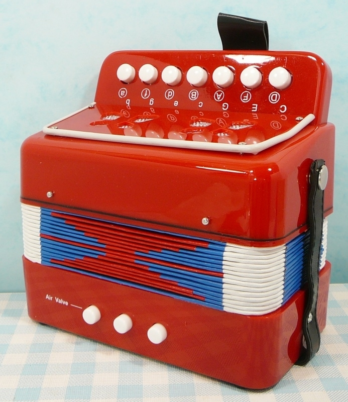 Accordeon rood muziekinstrument - Accordion