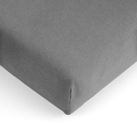 Jersey hoeslaken  antraciet  junior-peuterbed 70x140-150