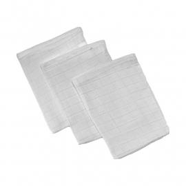 Hydrofiel washandjes Wit 3 stuks haton
