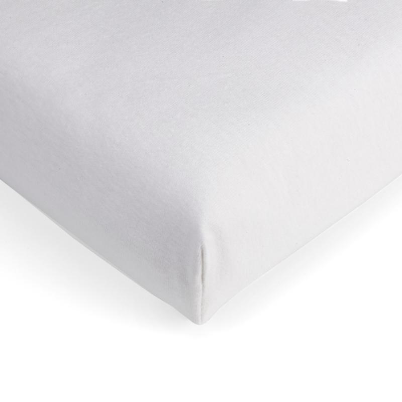 Jersey hoeslaken  wit junior-peuterbed 70x140-150