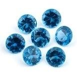 Blue Topaz Spinel 8 mm rond