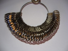 Metalen ringenbos