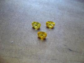 Yellow Sapphire Korund 6 x 4 mm ovaal