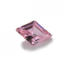Cubic Zirconia Pink Sapphire: Diamond 9 x 13mm Art: CZF-513