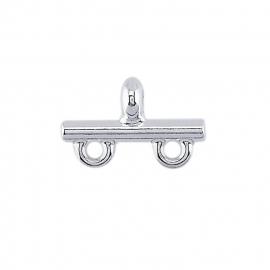 Zilver eindstuk met 2 ogen - RG 693707