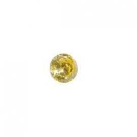 Cubic Zirconia Yellow Diamond: Rounde 4mm Art: CZF-652