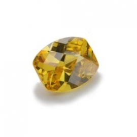 Cubic Zirconia Yellow Diamond: Barrel 8 x 10mm Art: CZF-660