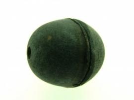 lederen kraal 27 mm zwart