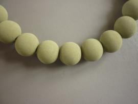 Lava pigment parel olijfgroen 12 mm (ZA11203et)