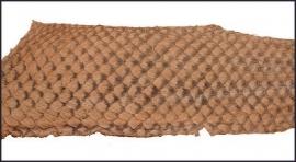 Fish leather - suède beige. +- 23 x 6,5 cm  (FSHM-BE)