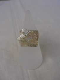 Gestructureerde ring met organische vorm