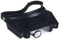 Hoofdbril met vergrootglas - 4 vergrotingen : 1,8x - 2,3x - 3,7x en 4,8x