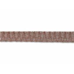 Italian turbulan metal ribbon 6 mm breedte - wine 1 m lengte (MR06WIM)