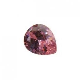 Cubic Zirconia Pink Sapphire: Pear 10 x 12mm Art: CZF-517