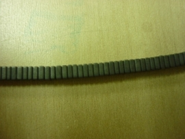 Hematite mat vierkant schijfje 3 x 3 mm - 7008/M