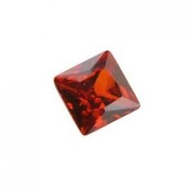 Cubic Zirconia Hessonite Gamet: Square 6 x 6mm Art CZF-357
