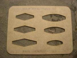 Sieraad template Ophangogen 2 - TMP-100-W