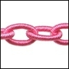 Polyester ketting Kleur fel roze POLY26-TH