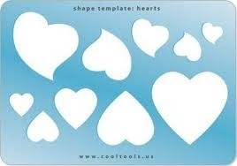 Sieraad template - Hearts TMP-203
