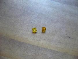 Yellow Sapphire Korund 4 x 4 mm vierkant