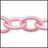 Polyester ketting Kleur Roze POLY46-TH