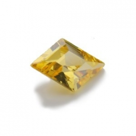 Cubic Zirconia Yellow Diamond: Diamond 9 x 13mm Art: CZF-664