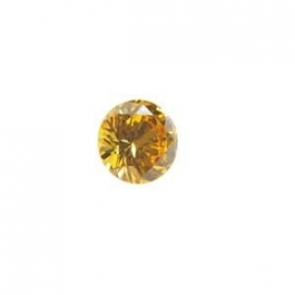 Cubic Zirconia Yellow Diamond: Round 6mm Art: CZF-654
