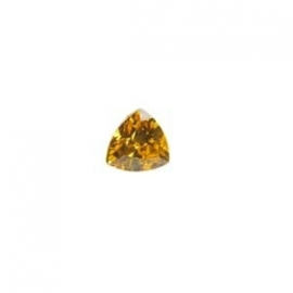 Cubic Zirconia Yellow Diamond: Trillion 5 x 5mm Art: CZF-659