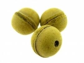 Lederen kraal 20 mm geel