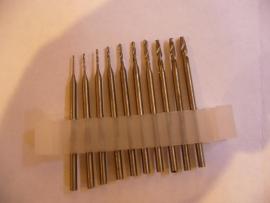 Set mini boorkopjes - 10 stuks