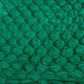 Fish Leather  Suède Emerald groen - 23 x 6,5 cm (FSHM-EG)