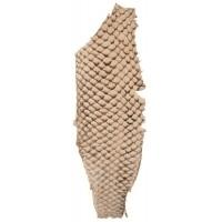 Fish leather - suède natural +- 23 x 6,5 cm  (FSHM-NA)