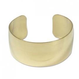 Messing armband bol gebogen 2,55 cm breed (CUFF1D)