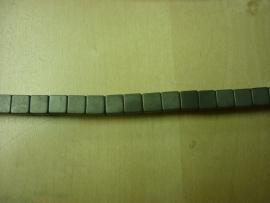 Hematite mat kubus 6 x 6 mm - 7006M