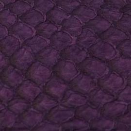 Fish Leather  Suède donker purple - 23 x 6,5 cm (FSHM-DP)