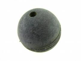 Lederen kraal paars 27 mm