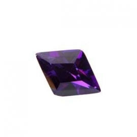 Cubic Zirconia Dark Amethyst: Diamond 9 x 13mm Art: CZF-805