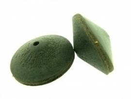 Lederen kraal 21/34 mm zwart