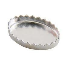 Zetkast fine silver 10 x 14 mm