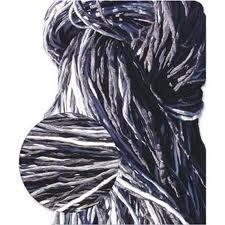 Zijdekoord 2 mm breed grijs-zwarte tinten (set van 5 strengen)