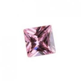 Cubic Zirconia Pink Sapphire: Square 6 x 6mm Art: CZF-506