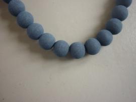 Lava pigment parel donkerblauw 8 mm (ZA10809et )