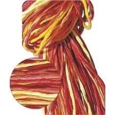 Zijdekoord 2 mm geel-oranje-rood (set van 5 strengen)