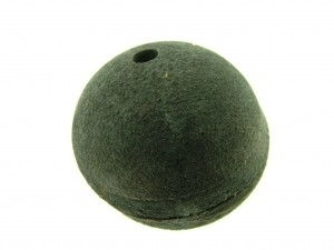 Lederen kraal 34 mm zwart