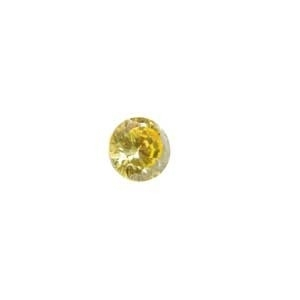 Cubic Zirconia Yellow Diamond: Rounde 4mm Art: CZF-652