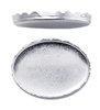 Gekartelde zetkast fine silver 8 x 10 mm