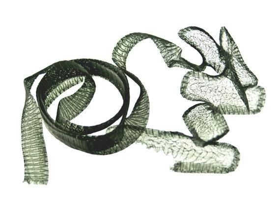 Artistic wire mesh 18 mm zwart - 1 meter (A144T-118)