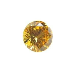Cubic Zirconia Yellow Diamond: Round 8mm Art: CZF-655