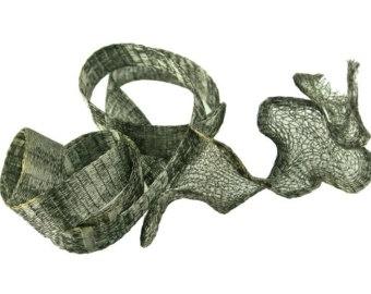 Artistic wire mesh 10 mm Hematite - 1 meter (A144C-110)