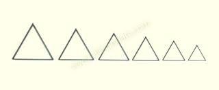 Driehoekig kleisuitsteker - set van 6 stuks  (CT5401)